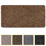 Felpudo (40 x 80 cm), diseño de rayas, color marrón oscuro