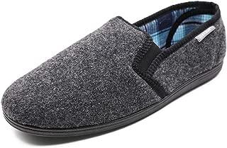 Hotme Men's Memory Foam Slippers Wide Width Diabetic Arthritis Edema Swollen Feet House Shoes Indoor/Outdoor