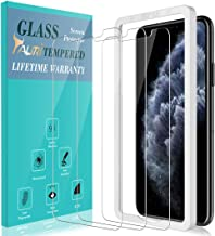 TAURI [3-Pack] Screen Protector for iPhone 11 Pro Max 6.5'' and iPhone Xs Max, [Alignment Frame] Easy Install [Case Friendly] Tempered Glass Screen Protector, Lifetime Replacement Warranty