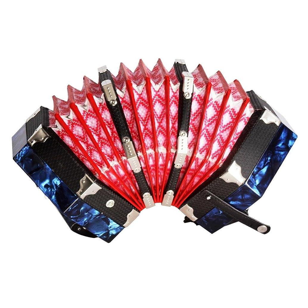かける勝つ無実Prettyia 20ボタンキー アコーディオン 子供 音楽才能を育て リズム感を向上 全3色 - 青
