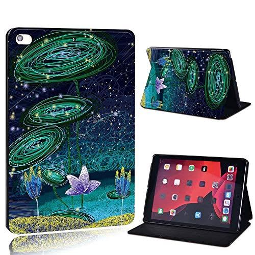 lingtai para Ap iPad 2 3 4 5 6 7 / Aire 1 2 Air 3 10.5 / Pro 11 / Pro 2ND 10.5 PU de Cuero de PU Impreso Tablet Soporte Folio Funda a Prueba de Golpes (Color : Lotus, Size : Air 3 10.5 2019)