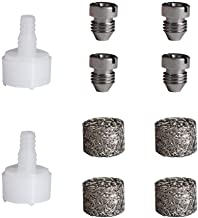FAVSTAR Foam Cannon Orifice Nozzle and Foam Maker, Replacement 1.1 mm Stainless Steel Thread Tips and Mesh Filter for Snow Foam Lance,10 -Pack