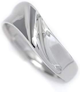 Pt900 リング プラチナ 指輪 V字 ウェーブ デザイン カップル ペアリングにも (7)