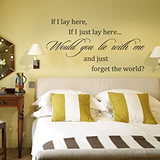Marydecals Wall Stickers Quotes If I Lay Here If I Just Lay Here Would You Lie with me and just Forget The World for Bedroom