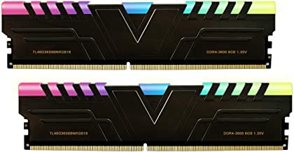 V-Color Prism RGB 16GB (2 x 8GB) DDR4 3600MHz (PC4-28800) CL18 1.35V Desktop Memory -Black (TL48G36S8KBNRGB18)