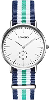 LONGBO Fashion Women Analog Quartz Simple Design Dial Watches Steel Buckle Waterproof WristWatch for Lady