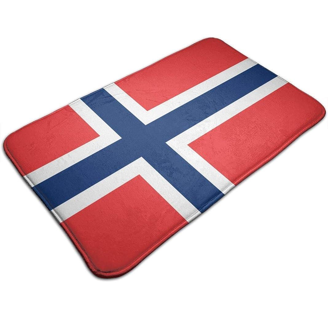 音繰り返す仕える低反発バスマット、ノルウェー国旗ノンスリップリビングルームBedroomKオフィス用の豪華なスタンディングマット、オフィスオフィスベッドルーム用クイックドライエントランスラグ
