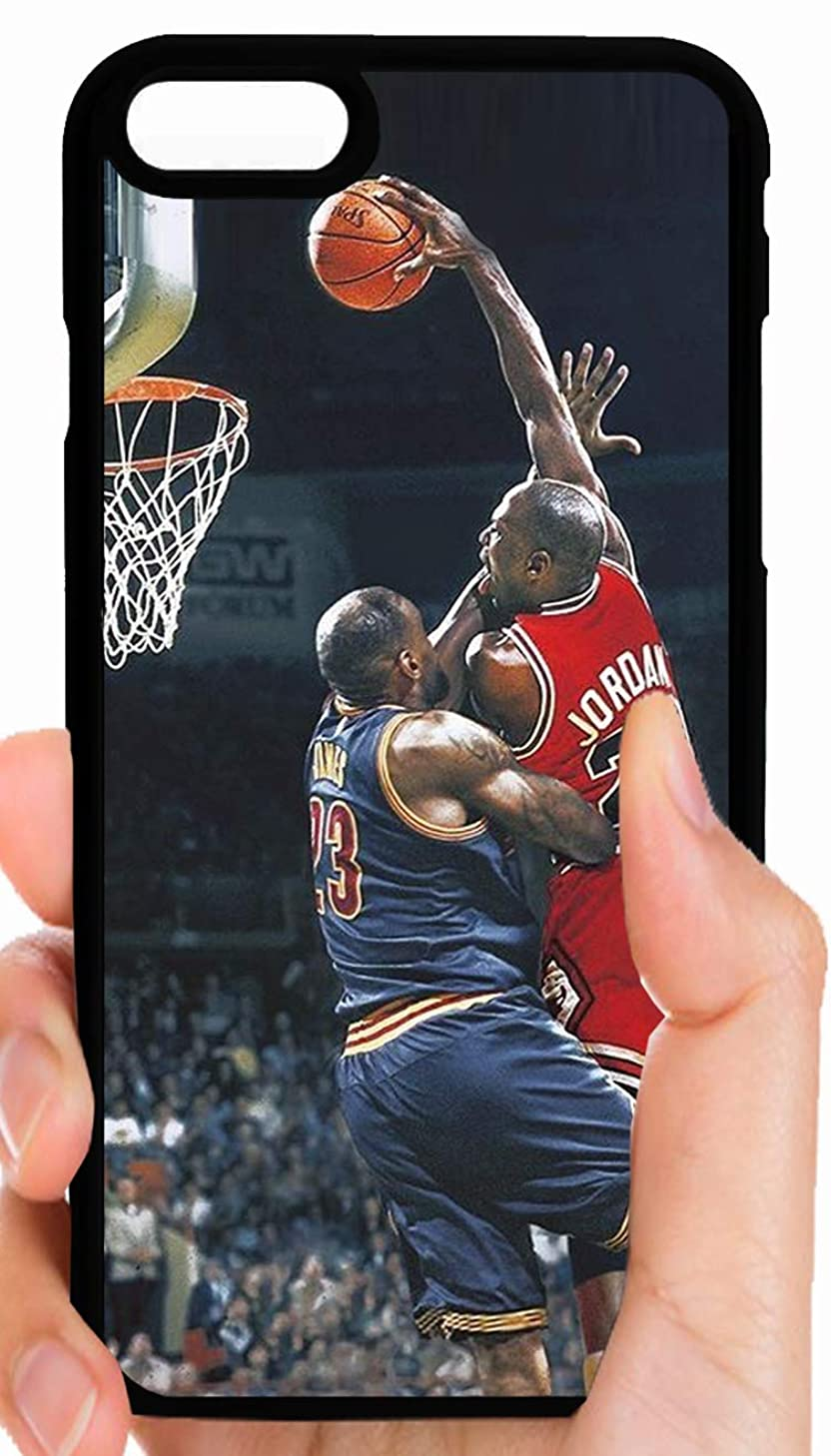 Jordan Dunks Over Lebron Bulls VS Cavs Legendary Goat Basketball Phone Case Cover - Select Model