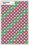 トレンド ごほうびシール 動物 800片 Trend superSpots Stickers Farm Friends T-46162