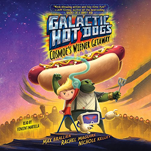 Galactic Hot Dogs 1     Cosmoe's Wiener Getaway              By:                                                                                                                                 Max Brallier                               Narrated by:                                                                                                                                 Vincent Martella                      Length: 2 hrs and 14 mins     Not rated yet     Overall 0.0