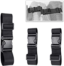 3 Pack of Add A Bag Luggage Straps, Adjustble Suitcase Attachment Belt, Strap Luggage Together, Sturdy and Durable (Black)