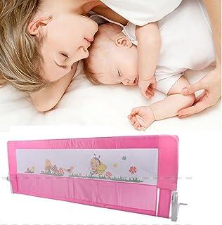 150cm/180cm Barandilla de La Cama Guardia de Seguridad para Niños, Barandilla Plegable de La Cama Infantil (Rosa, 180cm)