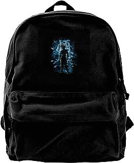 MIJUGGH Canvas Backpack Dragon Ball Z Goku Ultra Instinct Storm Rucksack Gym Hiking Laptop Shoulder Bag Daypack for Men Women
