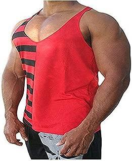 Men's Gym Muscle Y-Back Stringer Vest Bodybuilding Workout Tank Tops Fitness Sleeveless T-Shirt …