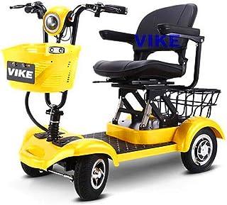 De peso ligero plegable sillas de ruedas eléctrica Vespa ancianos, ligero plegable de cuatro ruedas Scooter eléctrico, movilidad reducida en las cuatro ruedas del ciclomotor, cómodo y seguro, 300W Mot