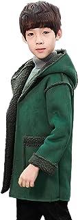 [ジンニュウ] 子供服 ムートンコート モッズコート 男の子 ボーイズ 秋 アウトドア 大きいサイズ コート アウター 裏起毛 フード付き おしゃれ