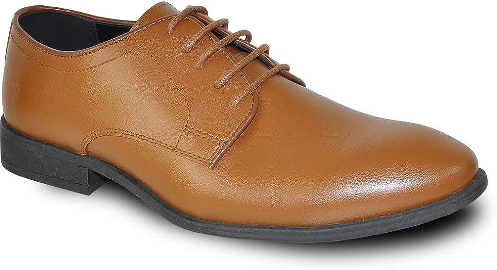 Vangelo Men Dress Shoe Tab-1 Oxford Formal Tuxedo for Prom & Wedding