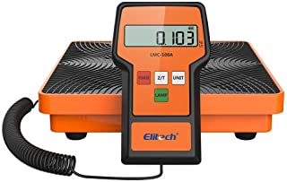 Elitech LMC-100A Digital Electronic Refrigerant Charging Recovery Scale with Wired Remote for HVAC Portable Case 220lbs/100kgs