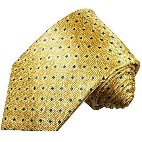 Cravate homme or jaune carreaux 100% soie