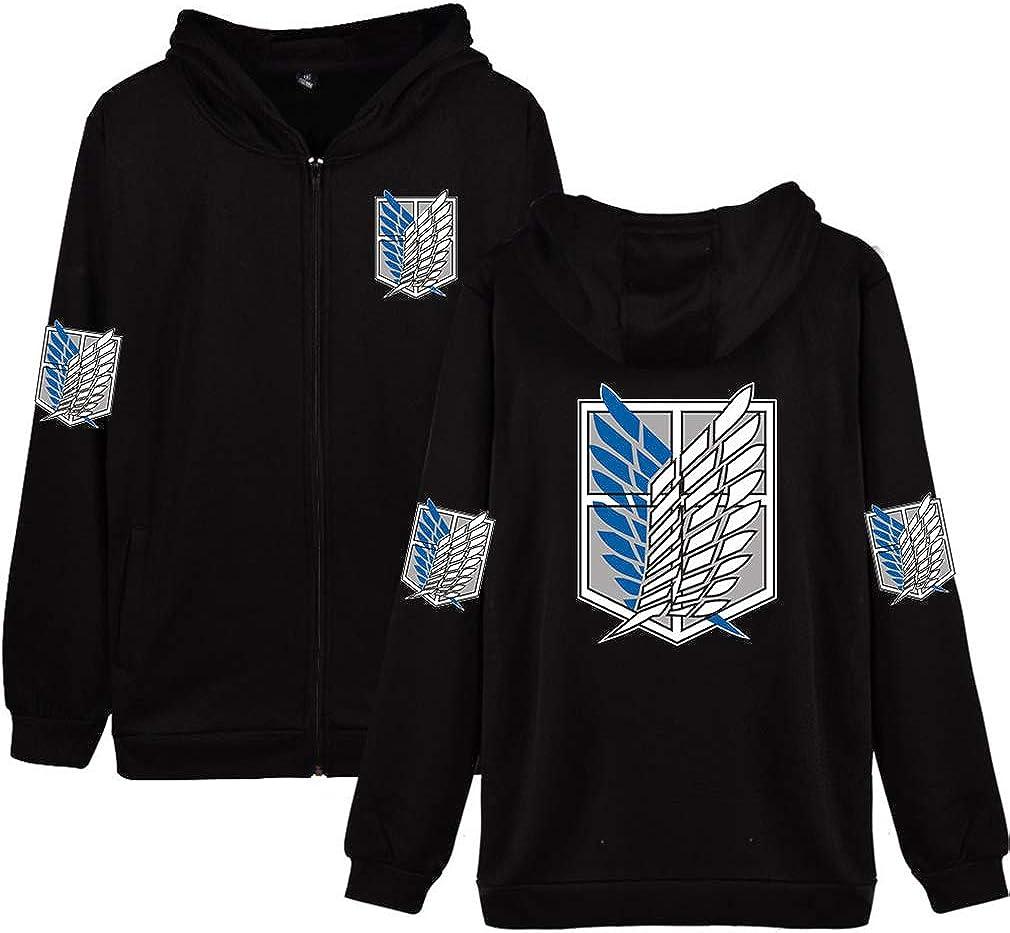 AMOMA Unisex Zip Up Hoodie Light Jacket Nippon regular agency On Anime T Weight Attack Nippon regular agency