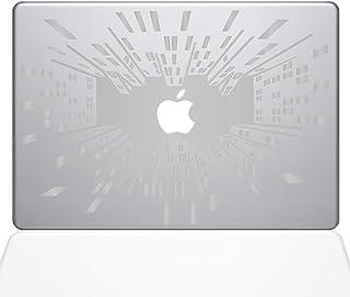 "The Decal Guru Looking Up in the Big City Decal Vinyl Sticker, 15"" MacBook Pro (2016 & Newer Models), Silver (1520-MAC-15X-S)"