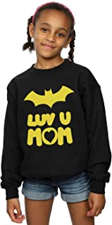 DC Comics Girls Batgirl Luv You Mom Sweatshirt