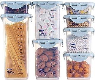 HYRGLIZI 8pcs boîte à épices à Grains Cuisine récipients de Stockage des Aliments boîte de Rangement pour réfrigérateur bo...