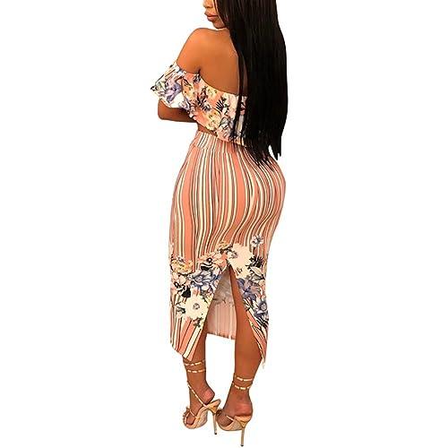 3d330b1d93 Women Two Piece Outfit Dress Suit Crop Top PU Leather Bodycon Mini Skirt Set  Party Clubwear