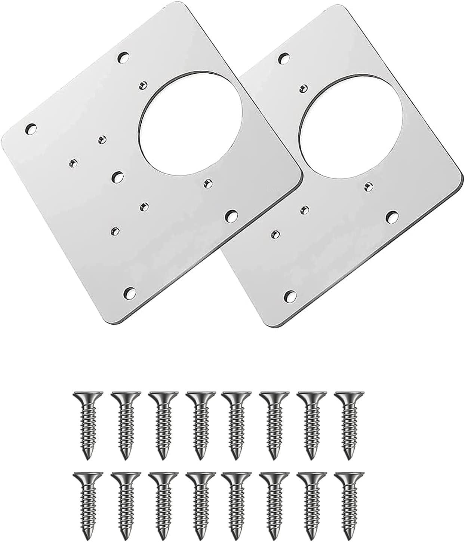 Xhuidz Placa de reparación de bisagras de gabinete con orificio,kit de reparación de bisagras de puerta de armario de cocina, Placa de reparación de bisagra de gabinete, puerta
