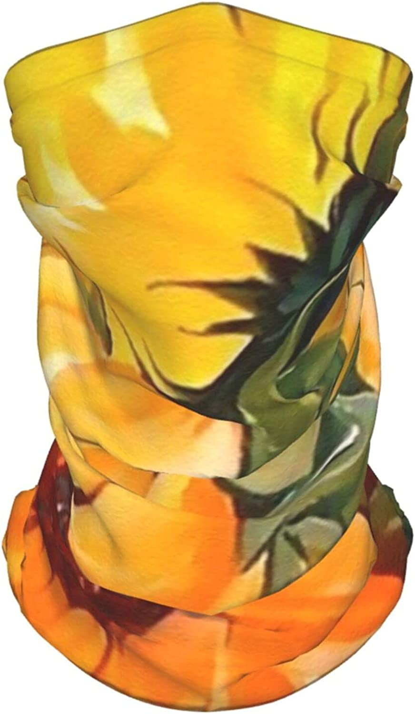 Sunflower Neck Gaiter Multipurpose Headwear Ice Silk Mask Scarf Summer Cool Breathable Outdoor Sport 4 Pcs