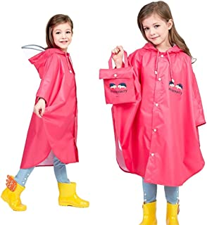 Duanguixia Children's Raincoat, Schoolbag Boys and Girls Poncho, Cape Children in Kindergarten and Environmental Protection
