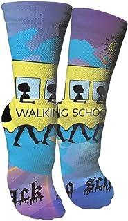 靴下 抗菌防臭 ソックス ウォーキングスクールバスアスレチックスポーツソックス、旅行&フライトソックス、塗装アートファニーソックス30 cmロング靴下