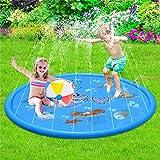 Sprinkler Pad for Kids Splash Pad and Sprinkle Play Mat Pool Inflatable Outdoor
