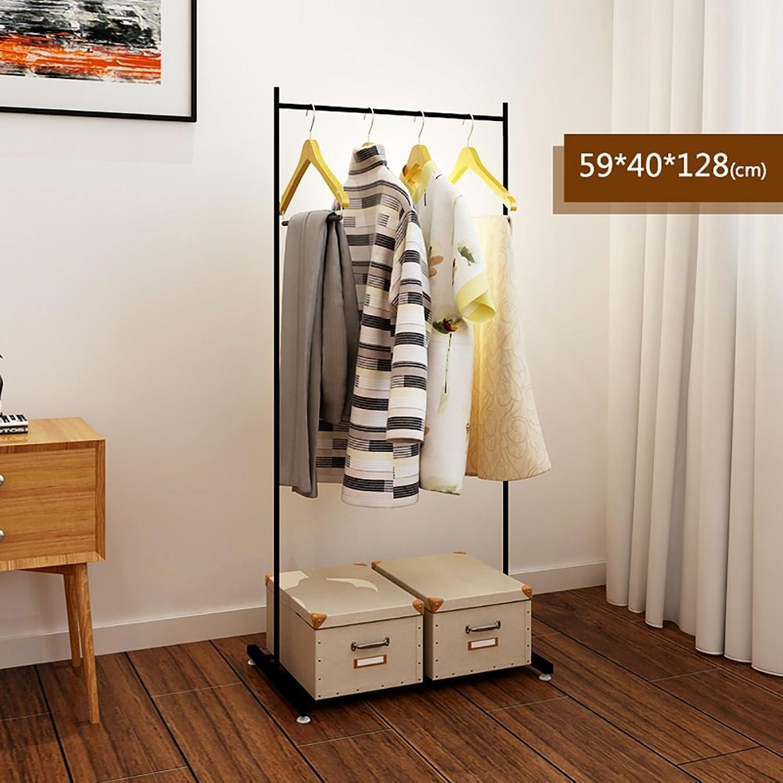 LXLA- Iron Coat Rack Floorstanding Hanger Simple Shelf Bedroom greenical Organizations Hanger Continental Multifunction Economic Type 59×40×128cm ( color   Black )