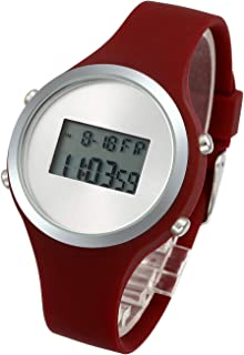 Digital Jelly Watch Red Silicone Band Waterproof Outdoor Running Sport Watch LED Simple Casual Wrist Watches for Women Girl