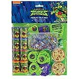 amscan- Favor Pack with Teenage Theme-48 Pcs. Turtles Paquete de regalo con temática de tortuga ninja mutante adolescente, 48 unidades, Color (11011945)