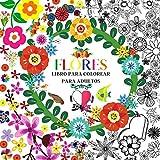 FLORES   LIBRO PARA COLOREAR PARA ADULTOS: diseños increíbles para relajarse   Mandala Relieve Stress   libro para colorear para adultos. Mandala de flores para colorear