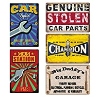 ヴィンテージメタルサインティン・モーターズトラック車バス販売部品サービスのポスター装飾プレートウォールステッカーパブバーガレージインテリア,2