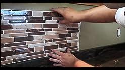 Cocinas katsuya 10PCS Adhesivos para Azulejos F/áCiles de Quitar Azulejo Pegatinas el hex/ágono Pegatinas de Pegatina para El Suelo Impermeables Adecuadas para Ba/ñOs