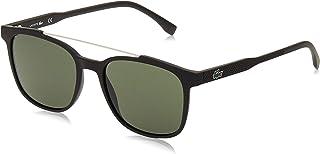 نظارة شمسية للرجال بنمط خطوط مستطيلة وانابيب من لاكوست، اسود/ رمادي