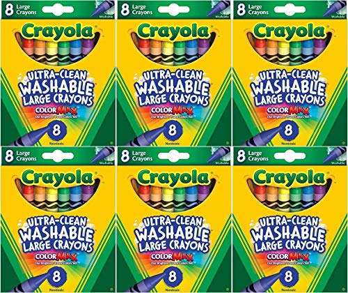 Crayola Kids First Large Washable Crayons, 8 Count (Pack of 6)