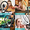 10'' Ring Light with 50'' Extendable Tripod Stand, Sensyne LED Circle Lights with Phone Holder for Live Stream/Makeup/YouTube Video/TikTok, Compatible with All Phones. #2
