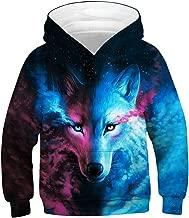 GLUDEAR Teen Boys Girls Novelty Animal Galaxy Hoodies Sweatshirts Pullover