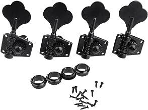 Cabezales sintonizadores para bajo eléctrico de Buwico®, juego de clavijas de alta calidad, negro
