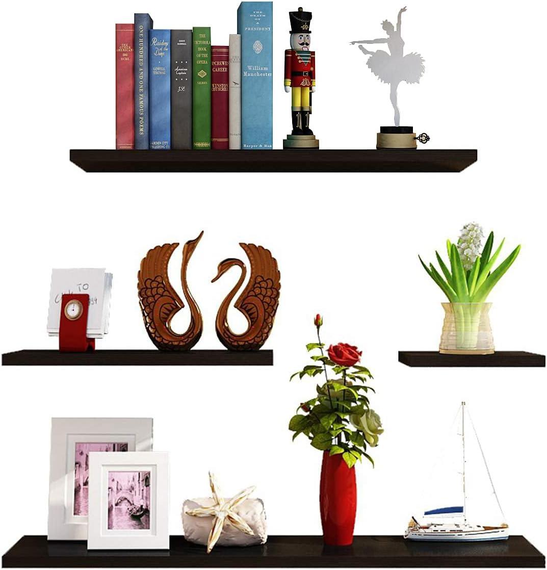 Superlatite Floating Shelves Multifunctional Set of Wooden Wall Fresno Mall 4