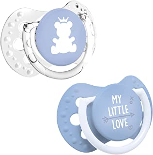 LOVI 2X Baby Silicone Mini Soother 0-2 Months   Pack of 2   Small Light Shield   Protects The Sucking Reflex   Hygenic Cov...