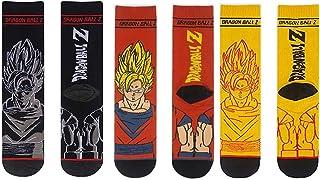 Calcetines de algodón for Hombre Otoño e Invierno Dragon Ball Z Super Saiyan Sun Wukong Anime Algodón Calcetines Rectos for Hombre en Medias