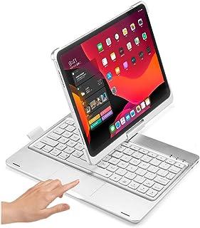 iPad Air4 10.9 インチ キーボード ケース 360度回転 タッチパッド搭載 マウス機能 バックライト付き iPadPro11 2021 2020 アイパッドエア4 ラックパッド キーボード付き カバー 折畳 一体型 Apple P...