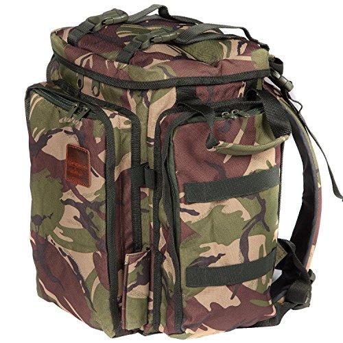 Saber DPM Camo Compact Rucksack Multi Pocket Bag For Carp Fishing Hiking Camping