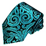 Lorenzo Cana - Marken Krawatte aus 100% Seide - petrol tuerkis Paisley Binder - 84442